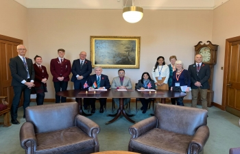 MOU between George Watson's College, Edinburgh and Indian partners